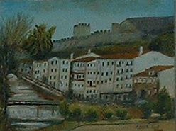 Toile du Chateau de Sertã par Américo Delgado