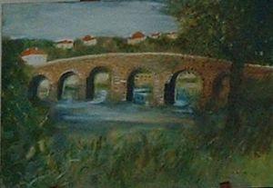 Toile le Pont Romain de Sertã - Américo Delgado
